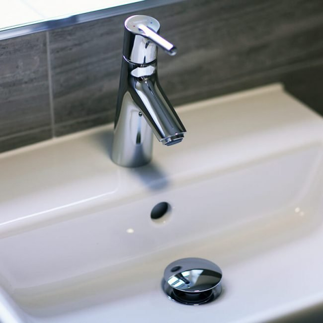 Bathroom sink and tap